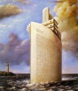livres en mer-rafal-olbinski-babel-image google