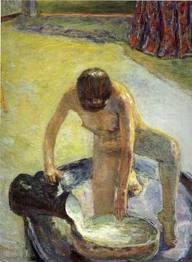 Bonnard nu accroupi au tub 1918