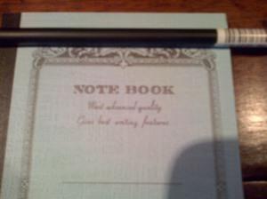swap béa carnet ancien et crayon de bois