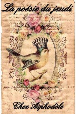 Logo du jeudi poésie pour présentation d'un poète.