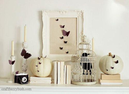 halloween cage et citrouiilles blanches lylouanne tumb