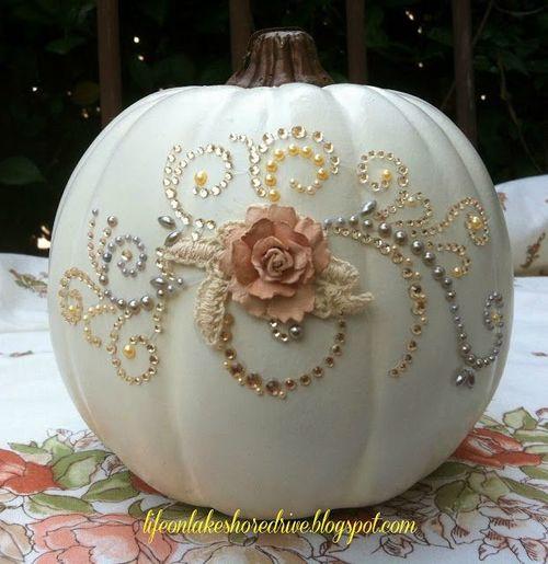 halloween citrouille blanche de luxe lylouanne