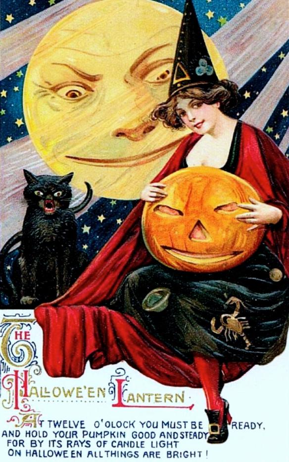 halloween john Winsch postcar velvetinabat