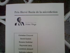 Livret hors-série de la revue Harfang avec les dix textes finalistes plus six nouvelles des membres des Jury.