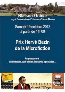 Prix Hervé Bazin microfiction affiche
