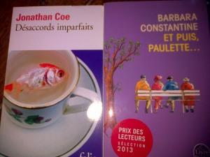 """""""Et puis Paulette"""" et  """"Désaccords imparfaits"""", très courts tous les deux, ce qui est bien pour alterner avec les pavés !"""