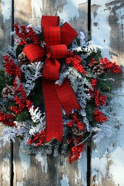 noel couronne rouge vert blanc ana-rosa