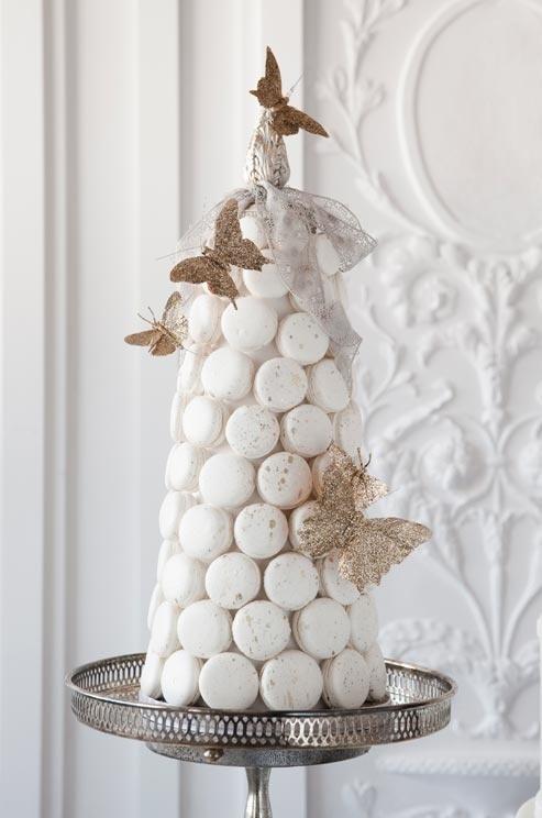 macarons pièce-montée blanche nature-and-culture