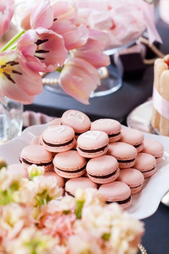 macarons rose & tulipes ana-rosa