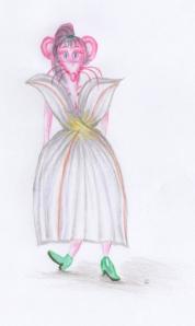 Aspho en souris rose