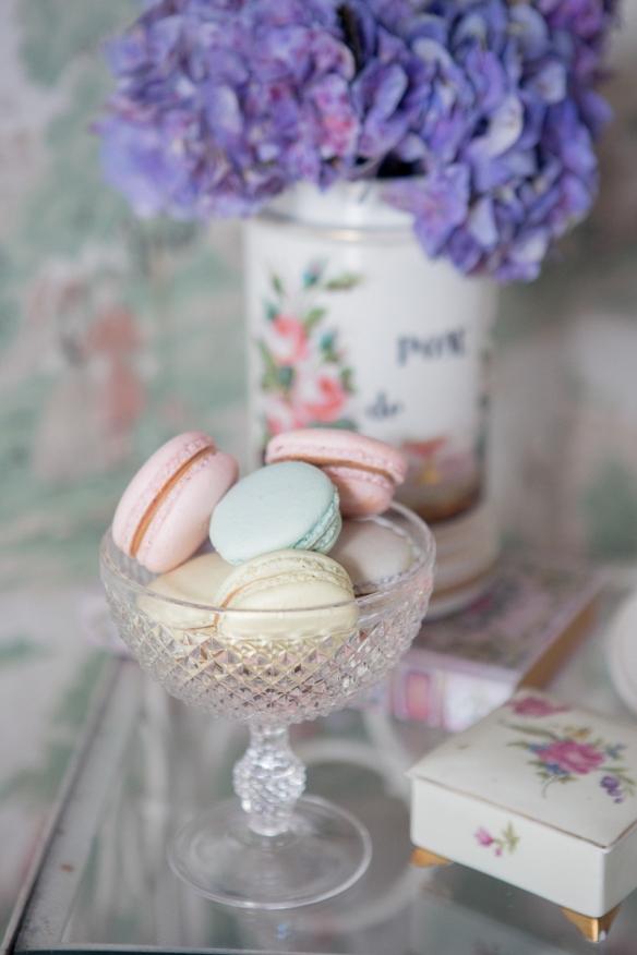 macarons et hortensias ana-rosa