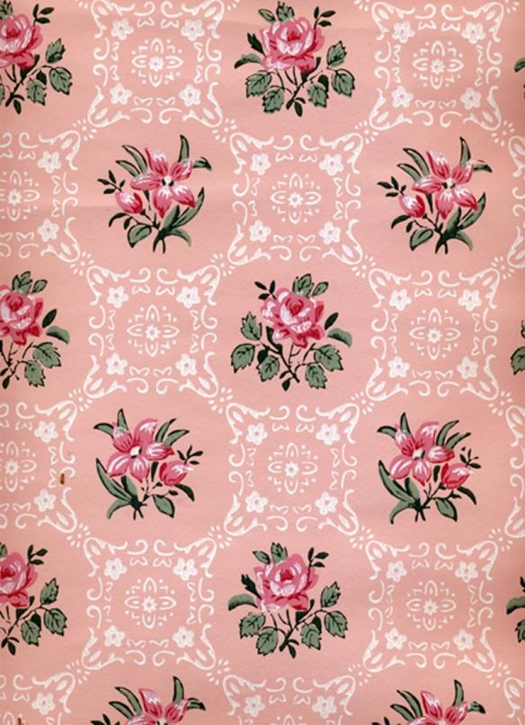 papier peint rose ana-rosa