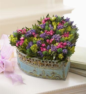 coeur floral composition sur Pinterest