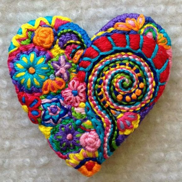 coeur tricoté et détricoté