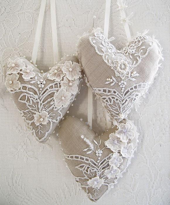 coeurs blancs dentelles ana-rosaz