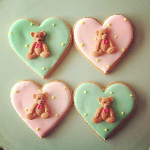 coeurs pastels nounours gâteaux ana-rosa