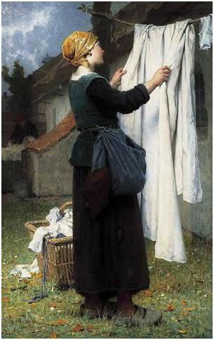 linge draps ramassés par Désiré-François Laugée 1883