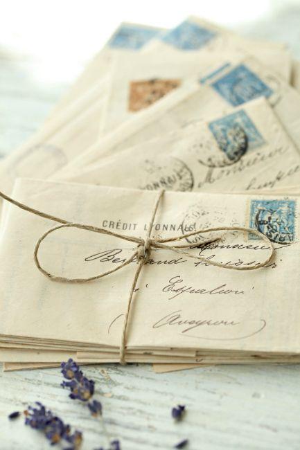 manuscrits correspondance brin lavande lylouanne