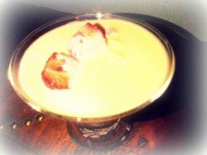 J'ai eu la main lourde sur la crème anglaise mais au goût, c'est meilleur !