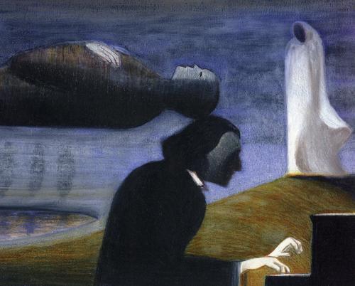 chopin g sand et la mort image peinture