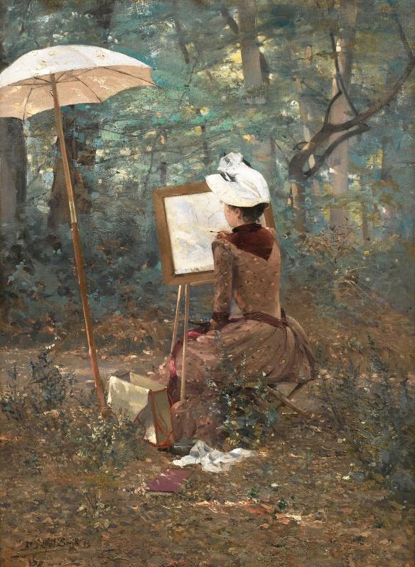 femme 19ème peintre ana-rosa tumblr