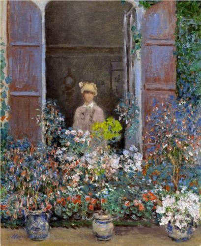 a reverdy été camille Monet à sa fenêtre