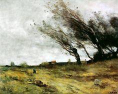 Le coup de vent de Camille Corot - 1876