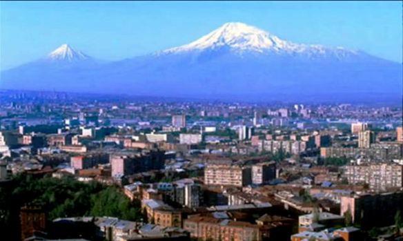a affiche rouge erevan et le mont Ararat
