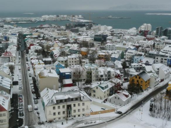 Reykjavik en hiver.