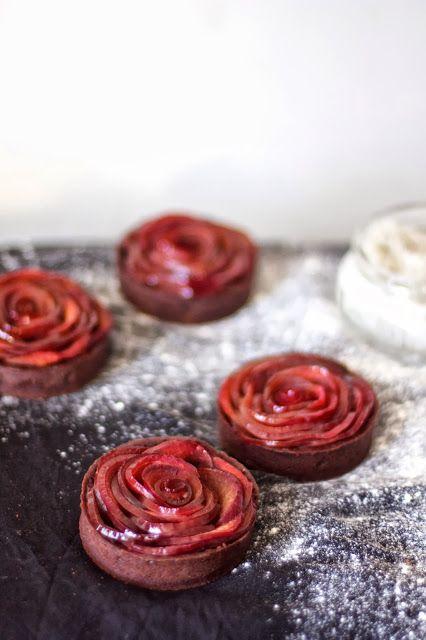 gourmandises tartelettes pommes colorées ana-rosa