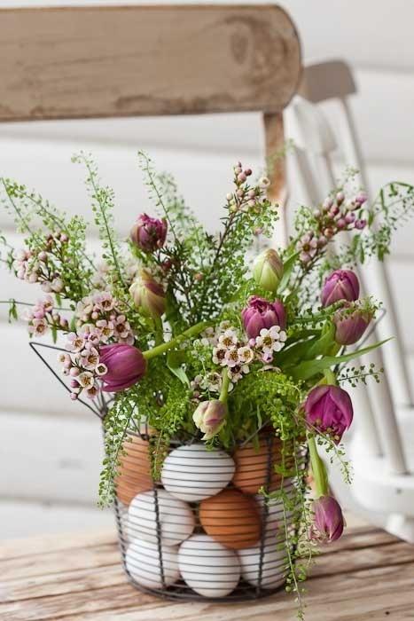 pâques oeufs et fleurs allsthingsshabbyandbeautiful