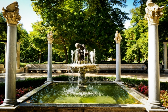 Aranjuez, jardins, fontaines du palais royal de Madrid.