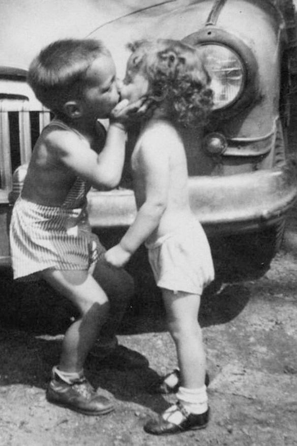 baisers d'enfants
