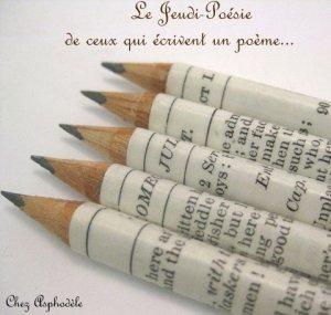 Logo des jeudis poésie pour ceux qui écrivent...