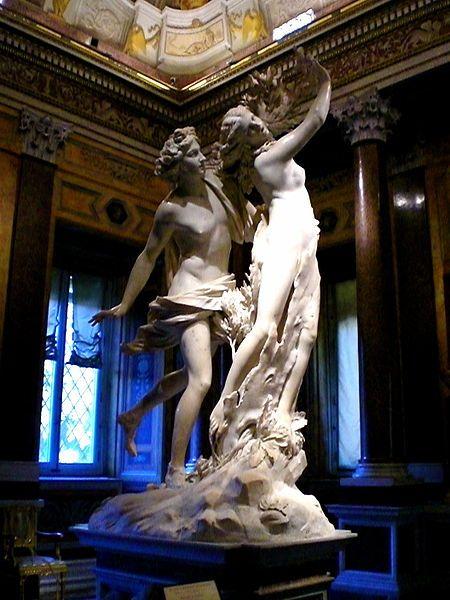 Daphné et Apollon par Bernini. Gallerie Borghese à Rome