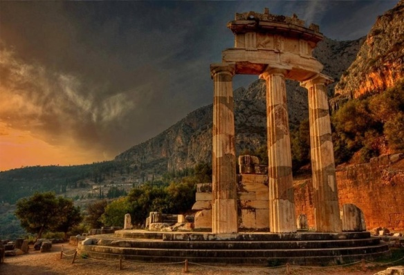 Delphes l'oracle où la sybille rendait ses prophéties
