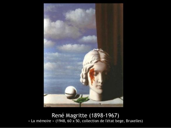 a Joubert Magritte La mémoire 1948, tableau de l'état belge