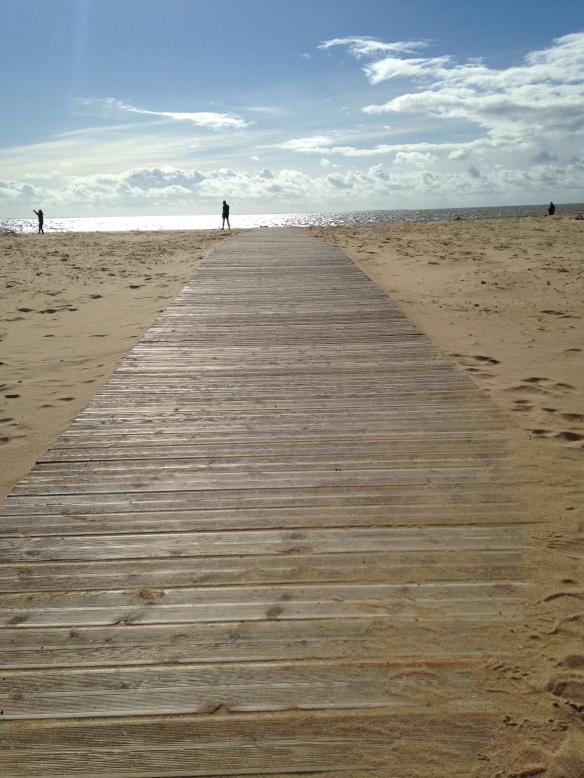 La Faute-sur-Mer hier... Que la mer est loin quand un vent glacé de face vous coupe le souffle mais qu'est-ce que c'est bon !