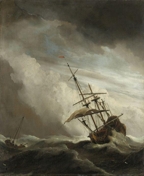 a pause Jan Vermeer navire dans la tempête i633