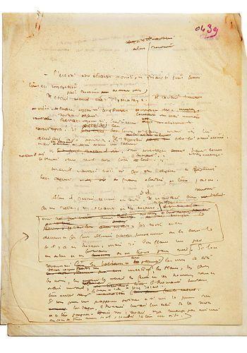 """Pages manuscrites du """"petit Prince"""" de Saint-Exupéry Crédit : Artcurial"""